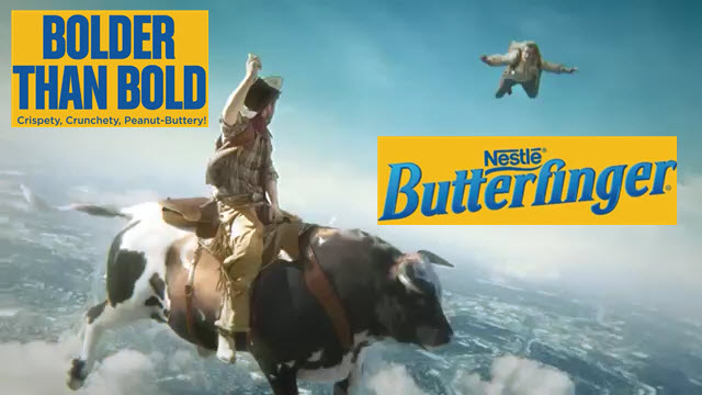 Bolder Than Bold Butterfinger commercial