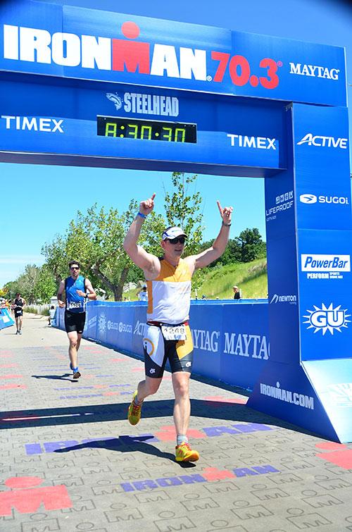Josh Half Ironman Finish