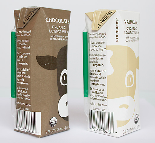 Starbucks Milk Cartons Side by Side