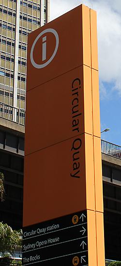 Sydney Information Sign on the Circular Quay