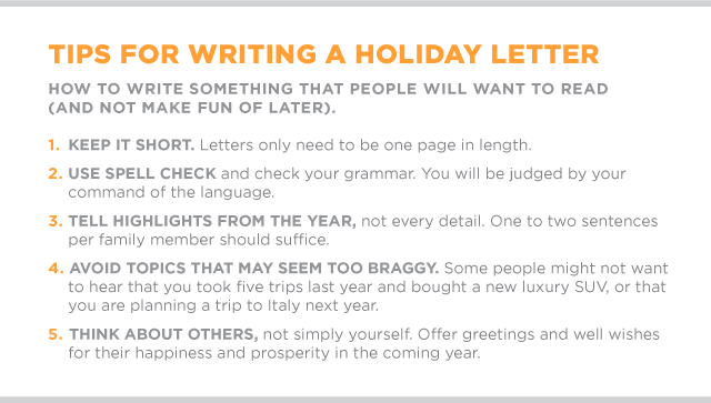 Tips for Writing a Holiday Letter