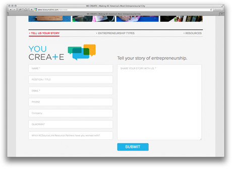 You Create Submission Form