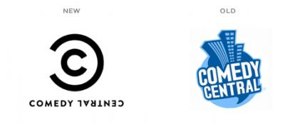 Comedy Central old and new logos