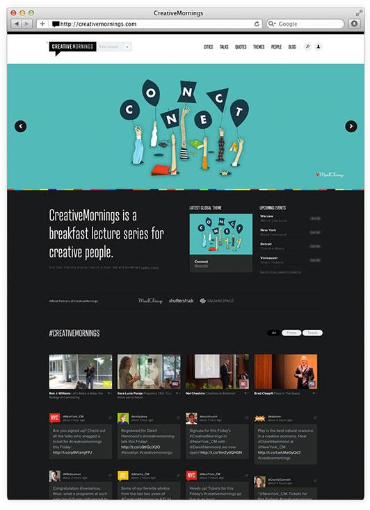 Creative Mornings Homepage