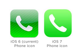 iOS Phone icon comparison