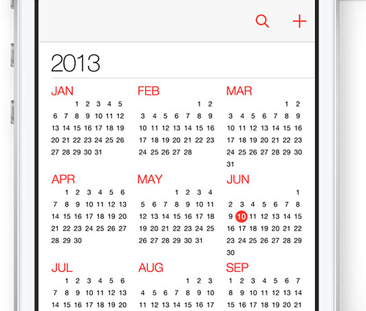 iCal in iOS7