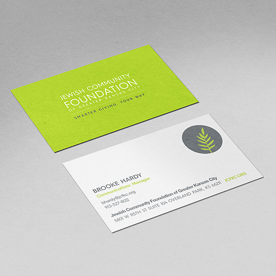 Fresh work archives indicia design jewish community foundation business cards reheart Choice Image