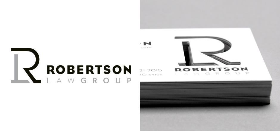 Robertson Group Logo Branding Robertson Law Group