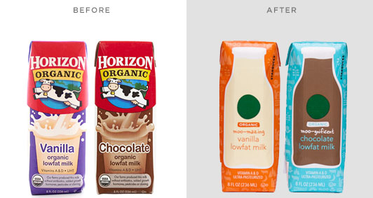 The new Starbucks milk containers side by side