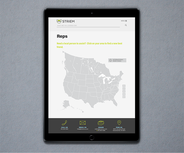 Striem web on iPad
