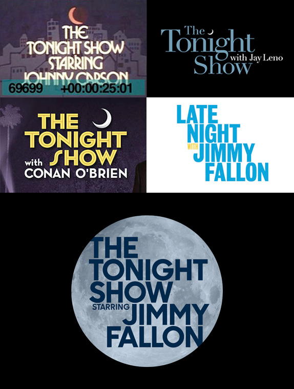 Evolution of the Tonight Show Logo